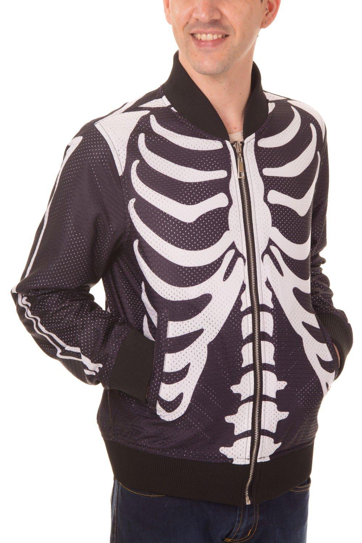 Veste  réversible  squelette/tête de mort RIBCAGE & SKULL de Banned, Londres
