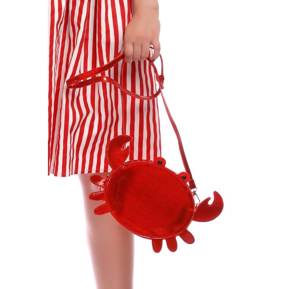 Sac à main vintage Lulu Hun, crabe rouge, Collectif