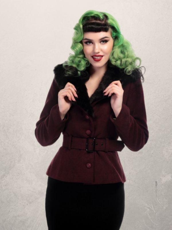 Veste vintage bordeaux, Collectif