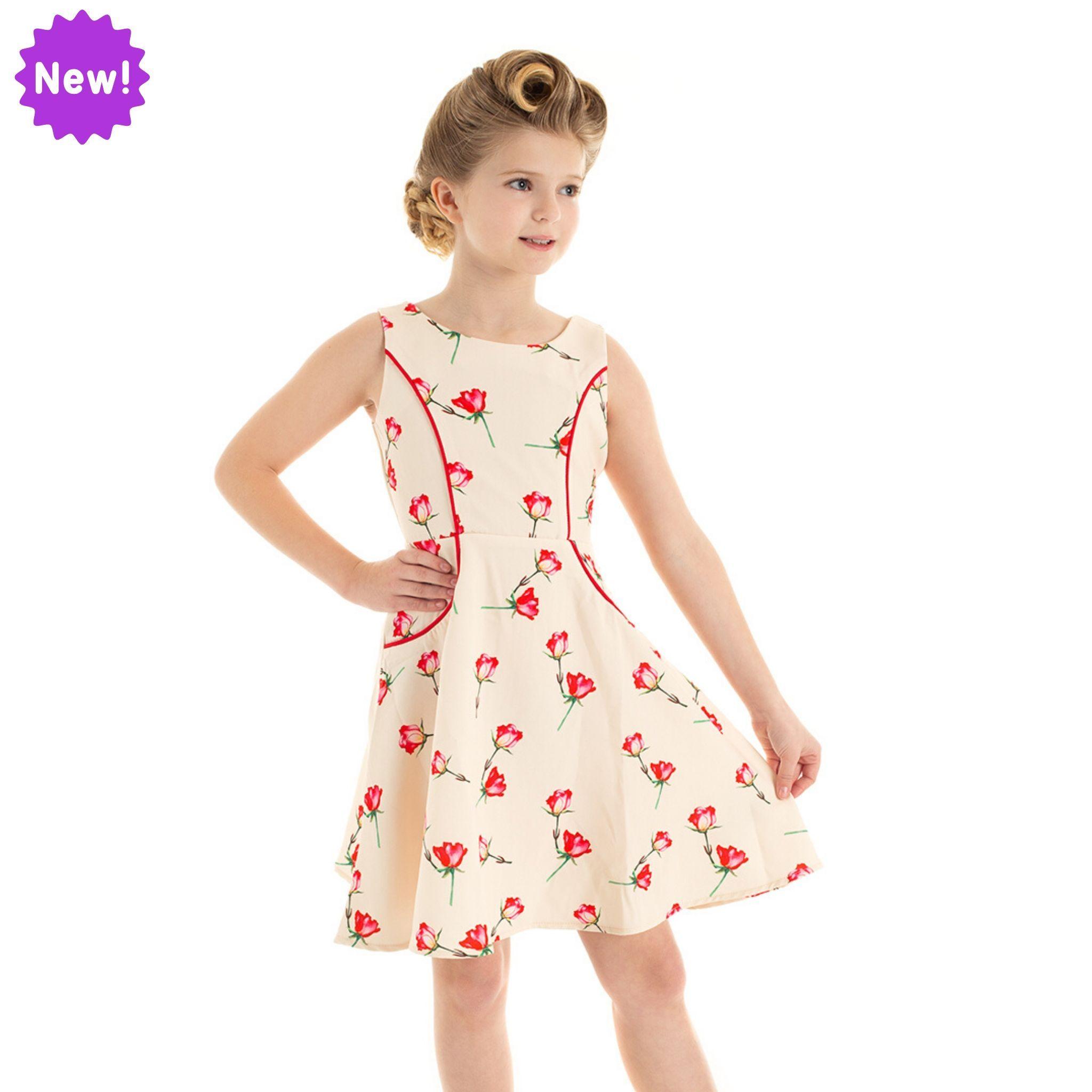 Robe évasée Sorella, style rétro pour fillette