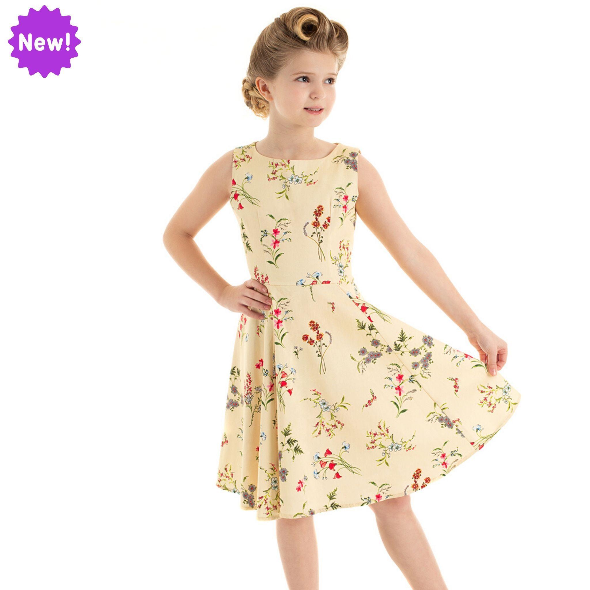 Robe swing Bridget, style rétro pour fillette