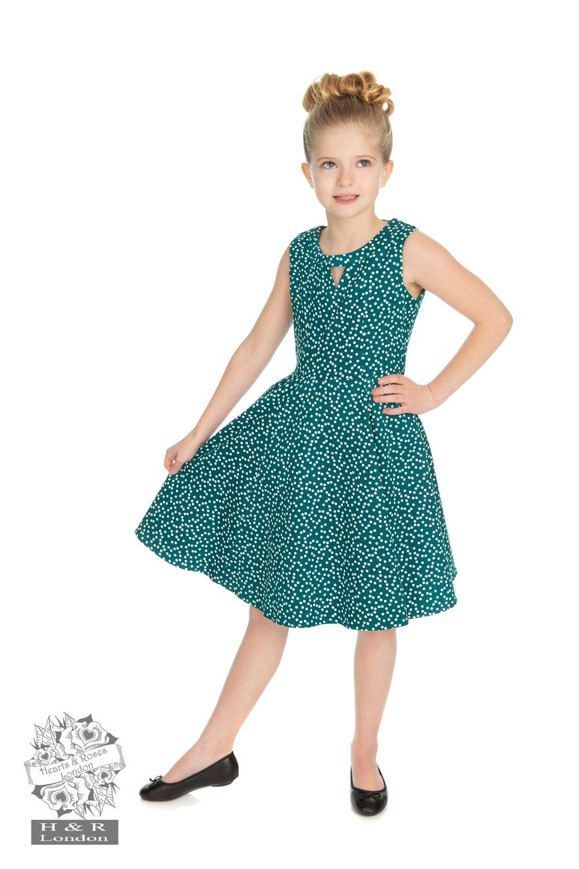 Robe swing style 50's La rosa Dotty, pour fille
