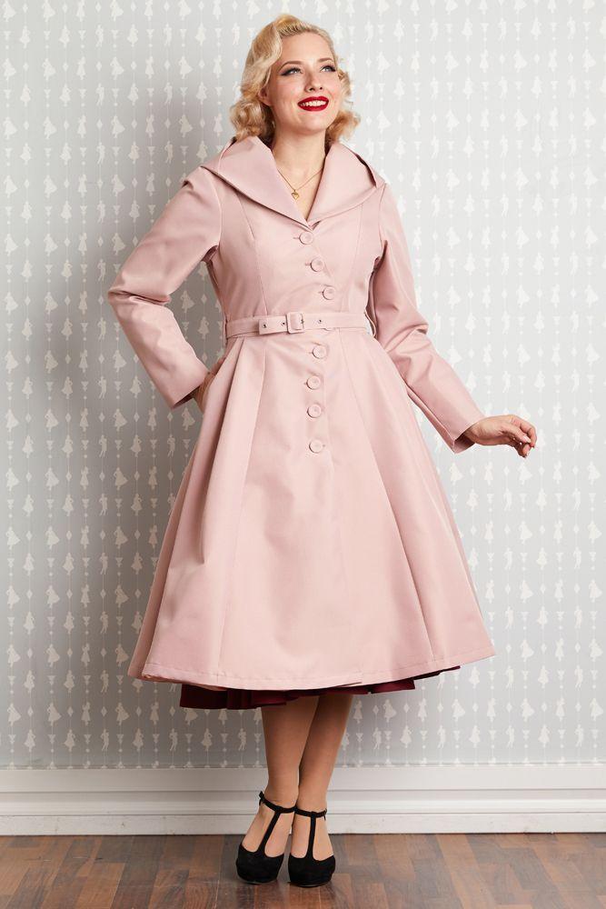 Manteau de pluie déperlant Lorin, style vintage, de Miss CandyFloss