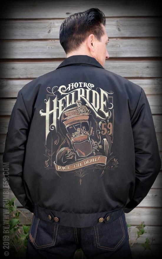 Blouson de travail Hotrod Hellride, style vintage