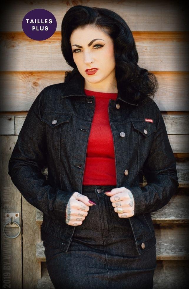 veste en jeans vintage, grande taille