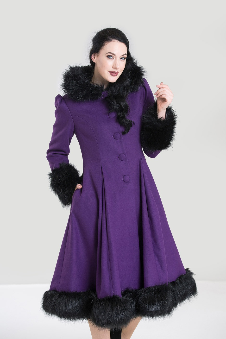 Manteau violet style vintage, Hell Bunny