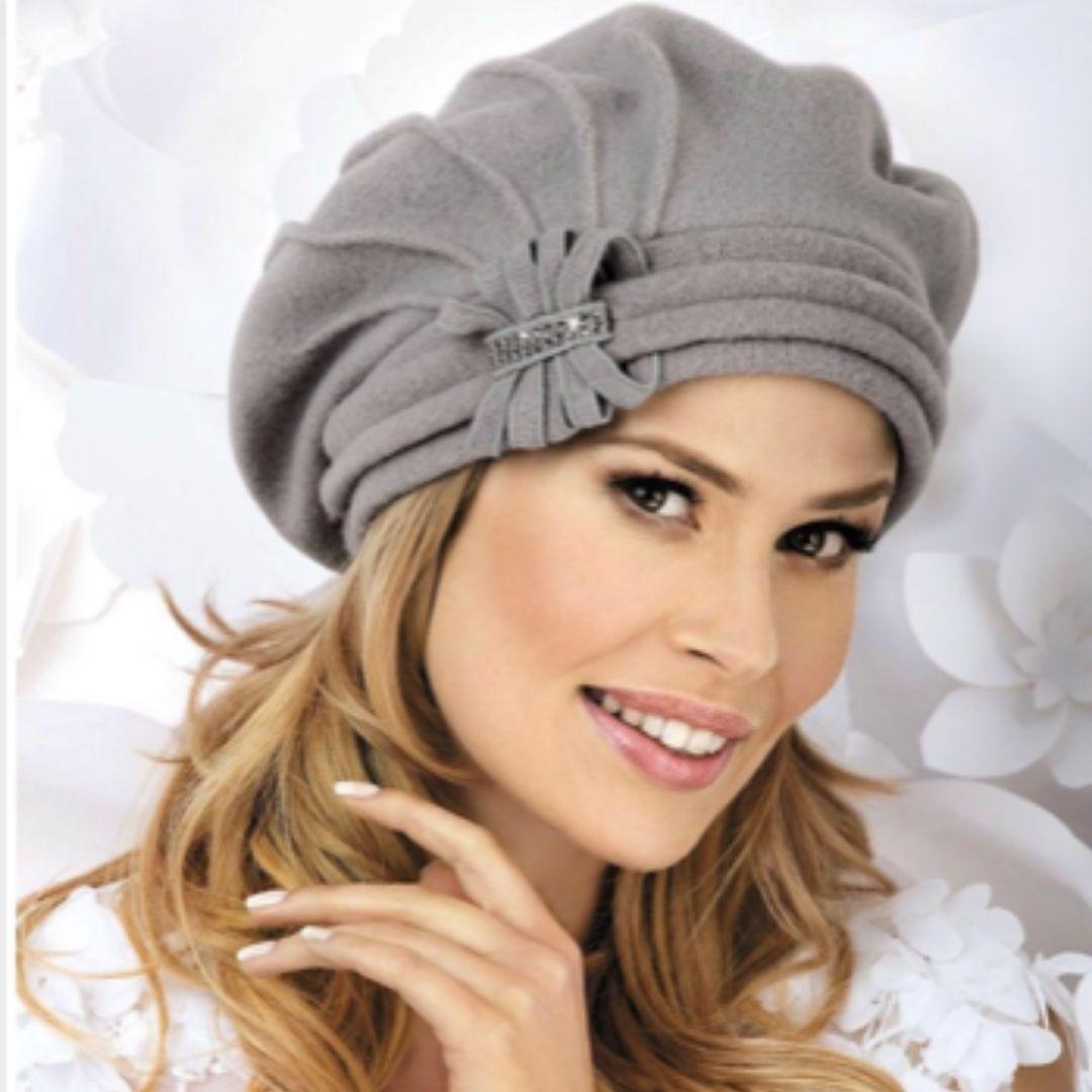 Chapeau souple style béret rétro gris, Papillon de Willi