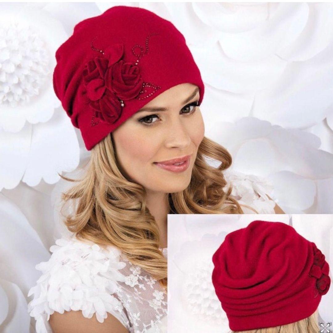 Chapeau rouge souple style rétro, Marlène de Willi