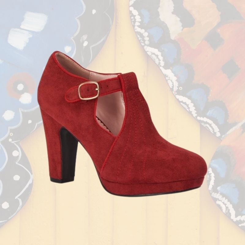 chaussures à talons rouges style vintage