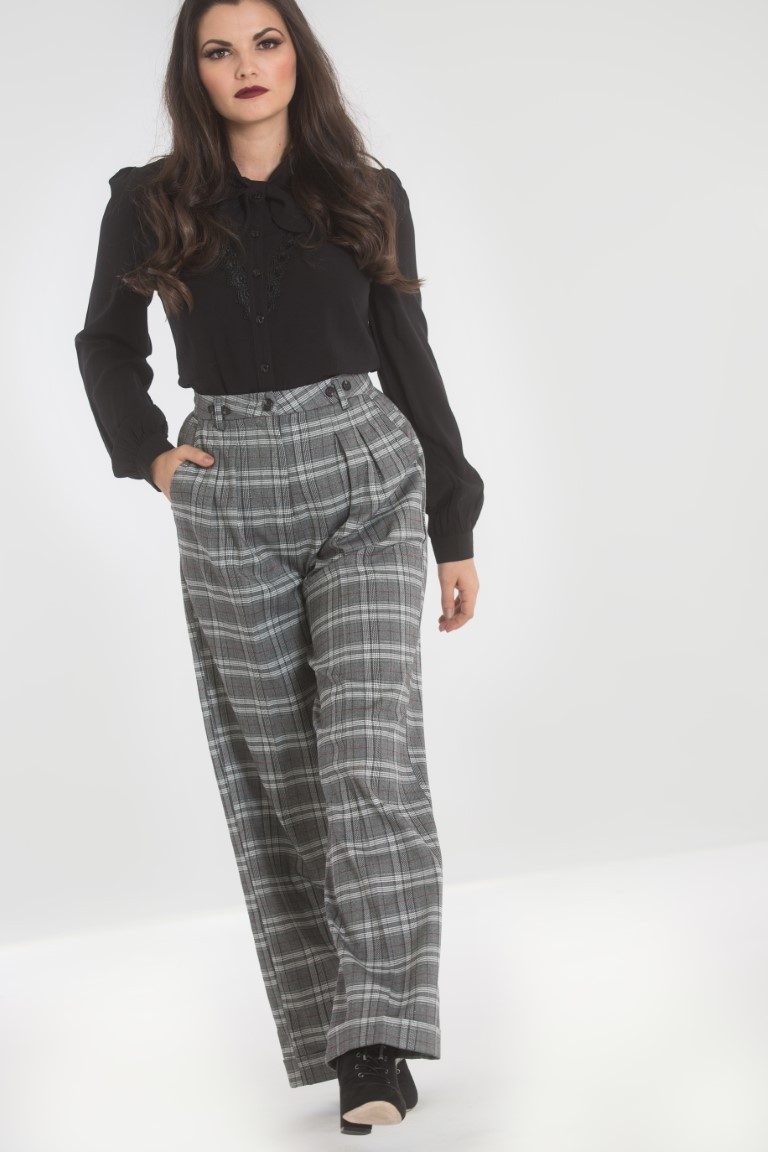 Pantalon à pinces vintage gris