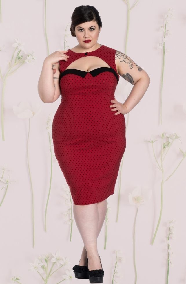 robe crayon rouge style vintage Miley
