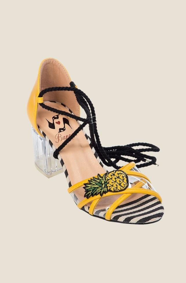 Sandales jaunes rétro Banned