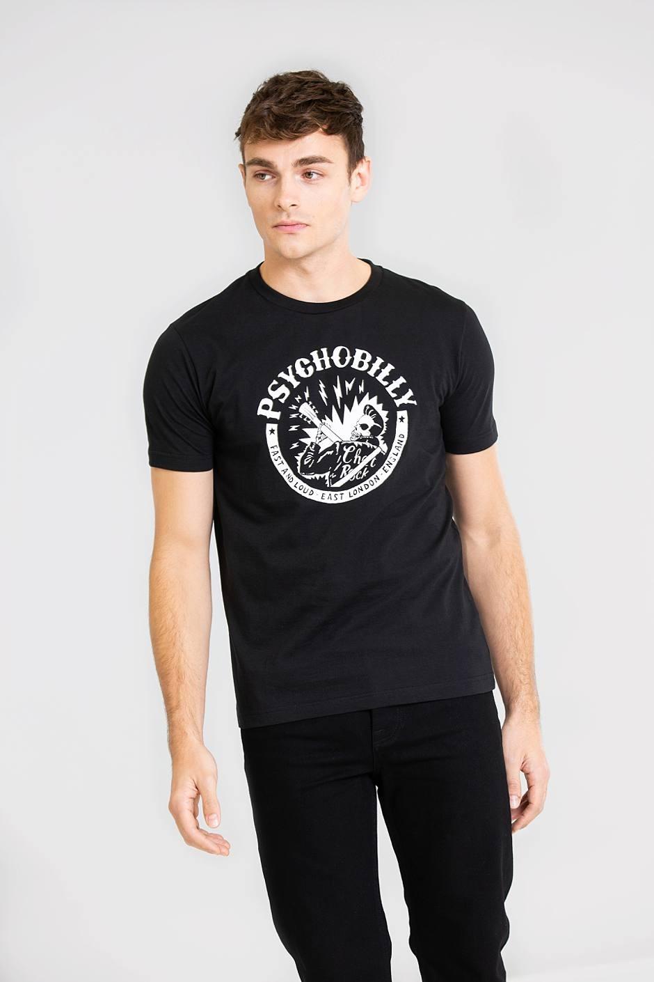 T-shirt noir psychobilly