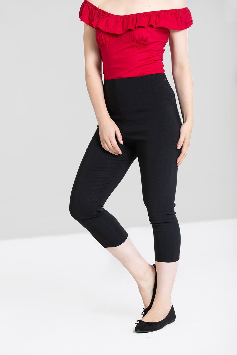 Pantalons corsaire noirs