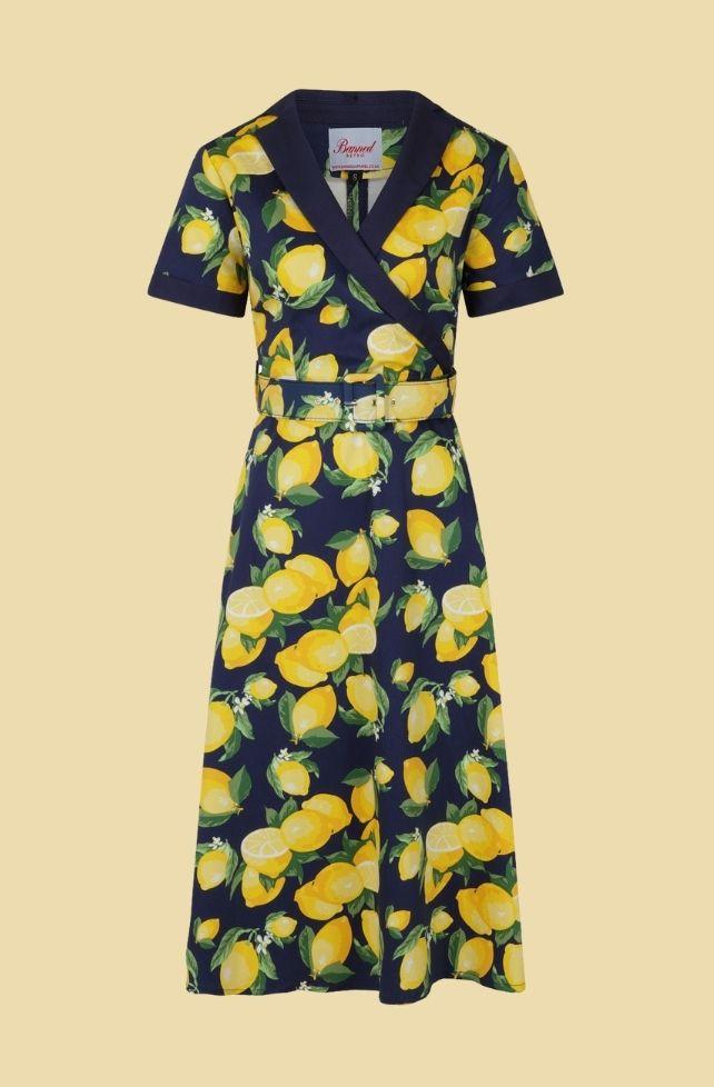 Robe style vintage, motif citrons