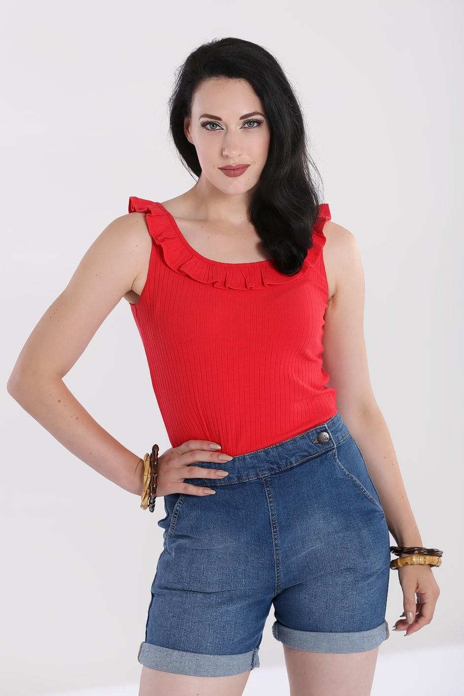 Top rouge style vintage