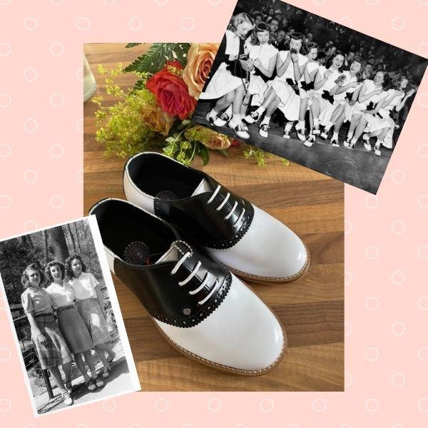 chaussures de selle 50's