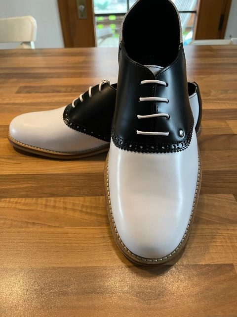 chaussures saddle 50's pour hommes
