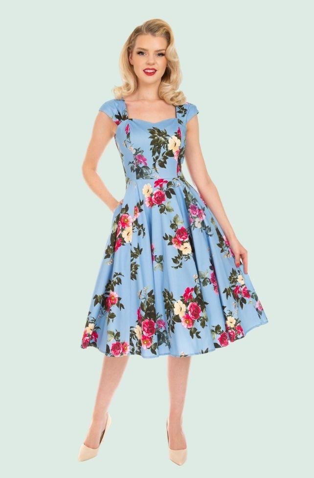 robe évasée style vintage