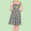 robe évasée style vintage rayures et citrons