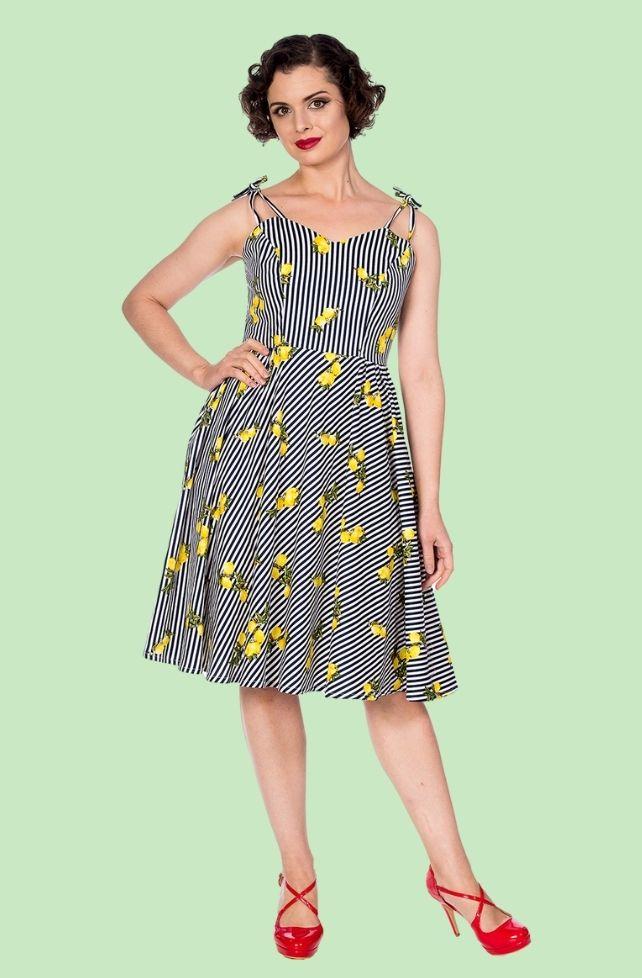 robe d'été vintage rayures et citrons
